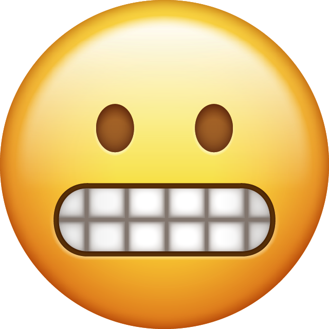 Download Grimacing Emoji [Download iPhone Emojis] Free Photo